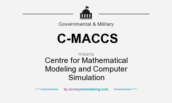 What does C-MACCS mean? It stands for Centre for Mathematical Modeling and Computer Simulation