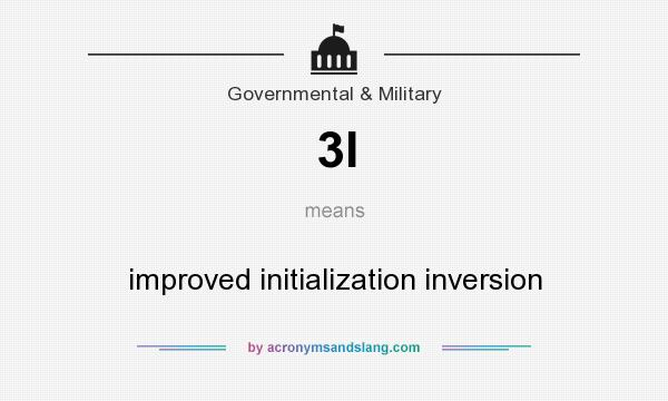 What does 3I mean? It stands for improved initialization inversion