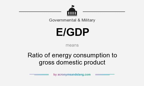 What does E/GDP mean? It stands for Ratio of energy consumption to gross domestic product