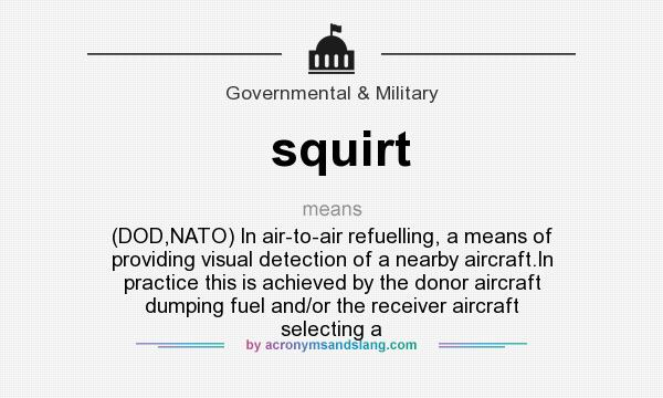 What does it mean to squirt