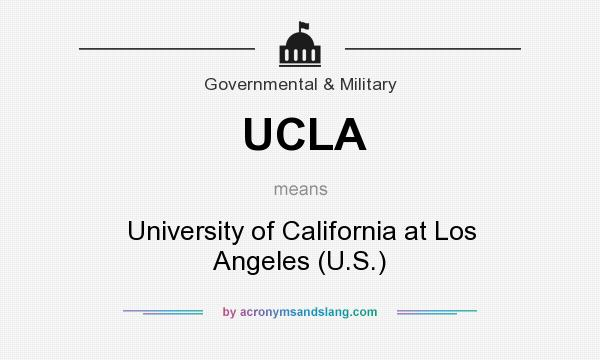 What does UCLA mean? It stands for University of California at Los Angeles (U.S.)