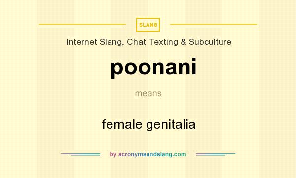 What does poonani mean definition of poonani poonani stands definition of poonani poonani stands for female genitalia by acronymsandslang voltagebd Choice Image