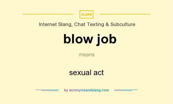 What does blow job mean