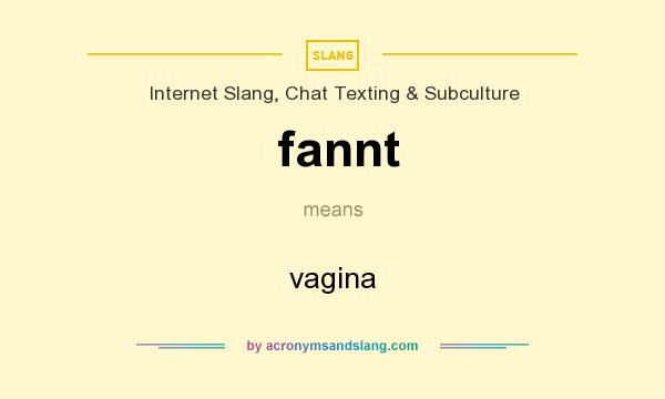 What does fannt mean? It stands for vagina