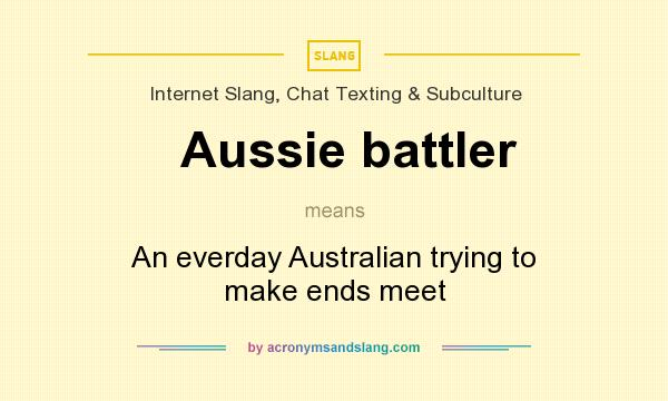 What does Aussie battler mean? It stands for An everday Australian trying to make ends meet