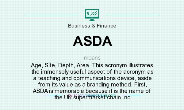 value chain analysis of asda