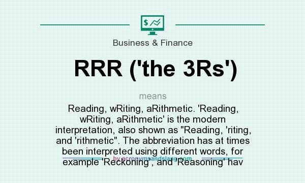 What does RRR (`the 3Rs`) mean? - Definition of RRR (`the