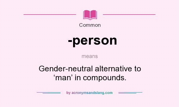 Definition mean person What does
