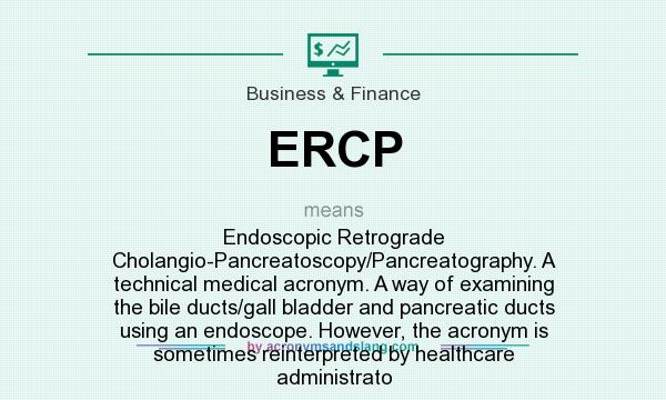 what is ercp stand for