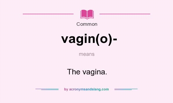 What does vagin(o)- mean? It stands for The vagina.