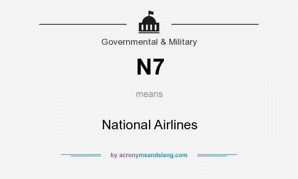 What does N7 mean? It stands for National Airlines
