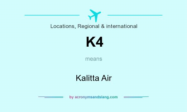 What does K4 mean? It stands for Kalitta Air
