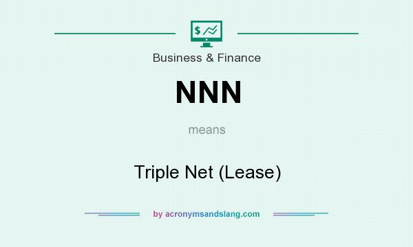 What does NNN mean? It stands for Triple Net (Lease)