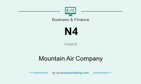 What does N4 mean? It stands for Mountain Air Company