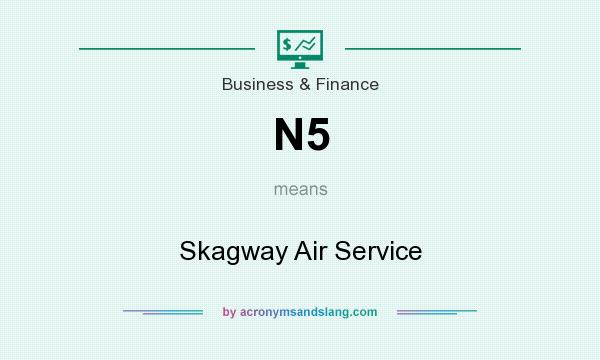 What does N5 mean? It stands for Skagway Air Service