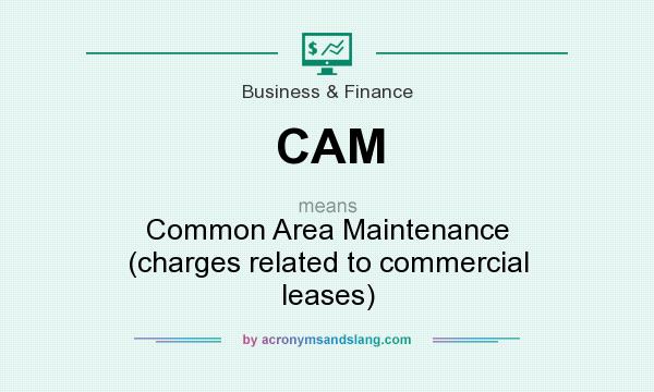 What does CAM mean? It stands for Common Area Maintenance (charges related to commercial leases)