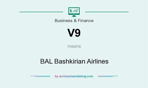 What does V9 mean? It stands for BAL Bashkirian Airlines