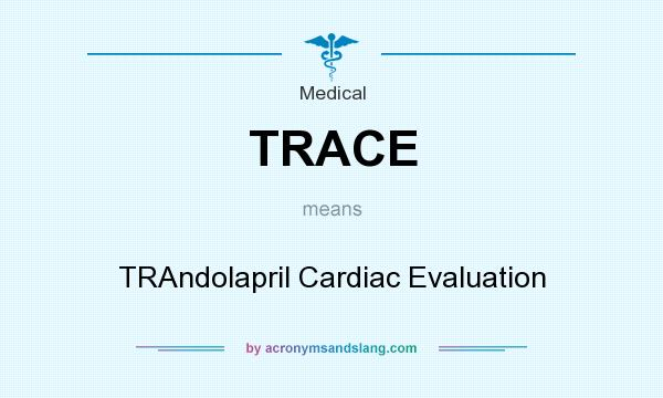 What does TRACE mean? It stands for TRAndolapril Cardiac Evaluation