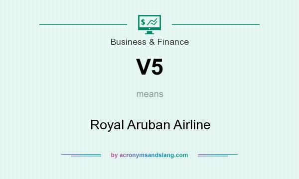 What does V5 mean? It stands for Royal Aruban Airline