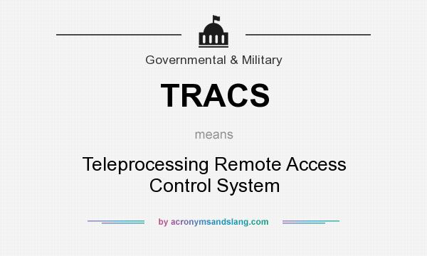 What does TRACS mean? It stands for Teleprocessing Remote Access Control System