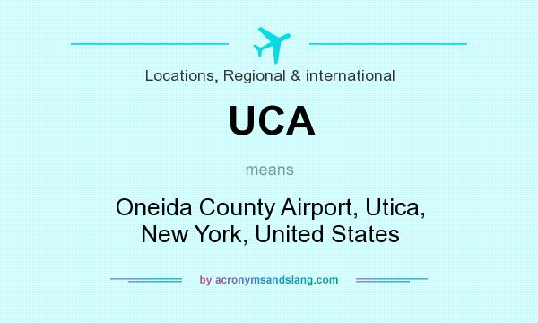 What does UCA mean? It stands for Oneida County Airport, Utica, New York, United States