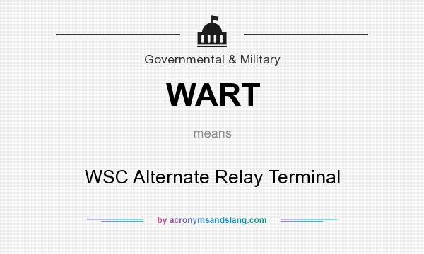wart wsc alternate relay terminal in governmental military by acronymsandslang com