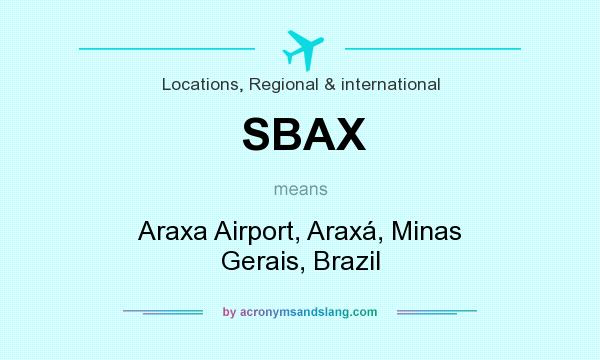 What does SBAX mean? It stands for Araxa Airport, Araxá, Minas Gerais, Brazil