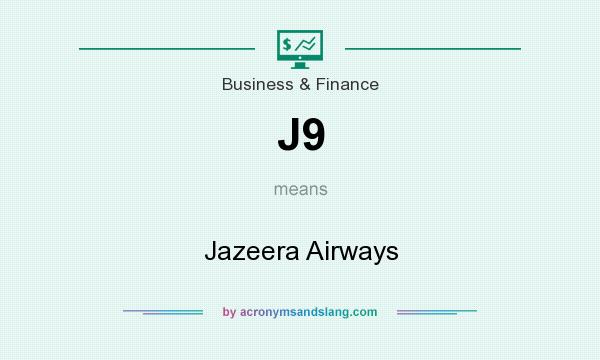 What does J9 mean? It stands for Jazeera Airways