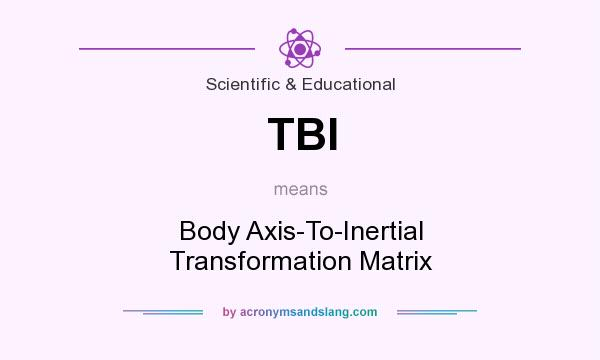What does TBI mean? It stands for Body Axis-To-Inertial Transformation Matrix