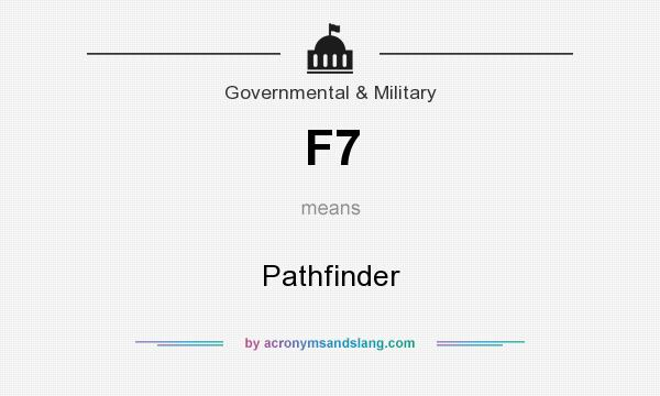 What does F7 mean? It stands for Pathfinder