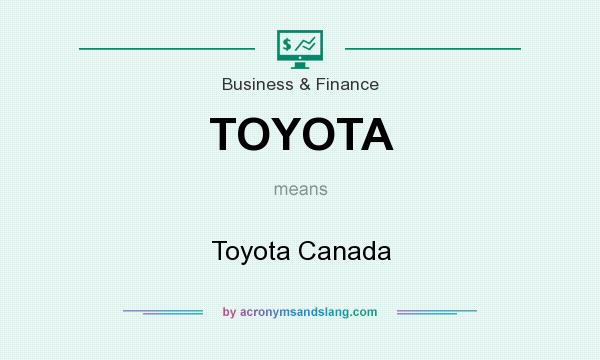 What does TOYOTA mean? It stands for Toyota Canada