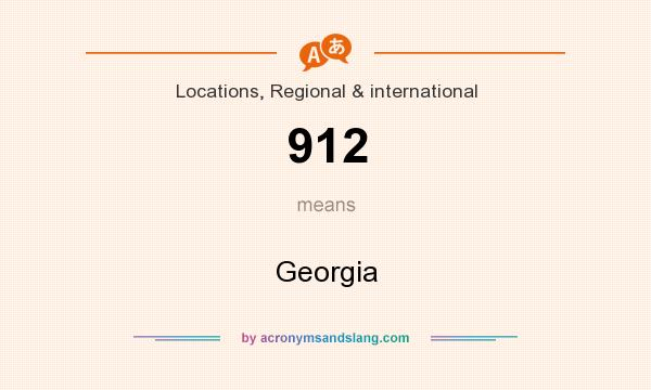 What does 912 mean? It stands for Georgia
