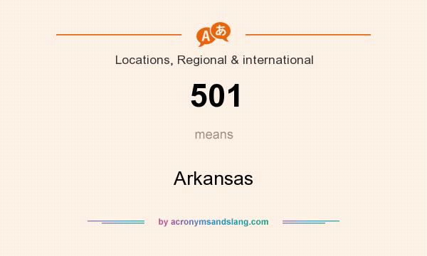 What does 501 mean? It stands for Arkansas