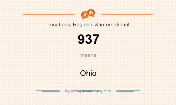 What does 937 mean? It stands for Ohio