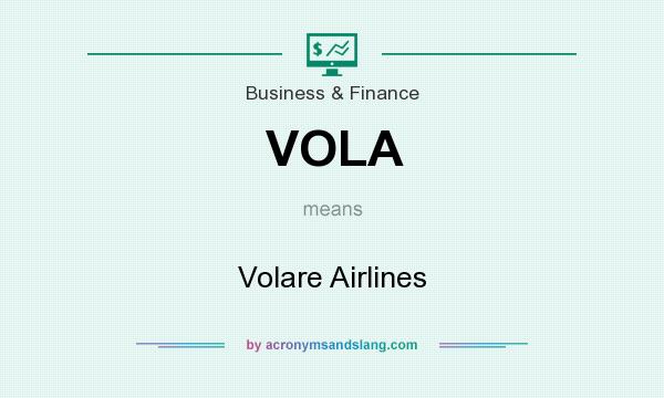 What does VOLA mean? It stands for Volare Airlines