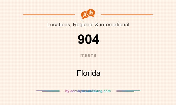 What does 904 mean? It stands for Florida