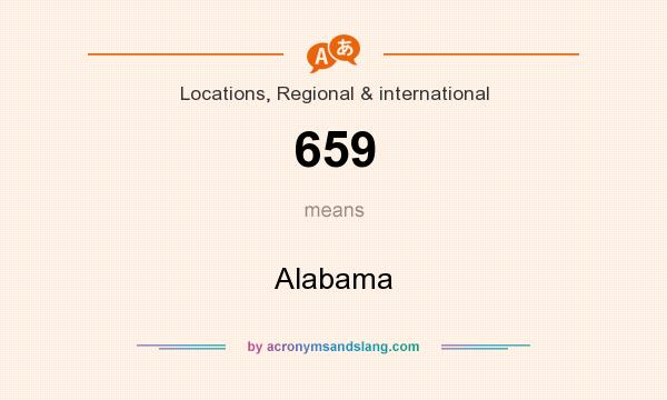What does 659 mean? It stands for Alabama