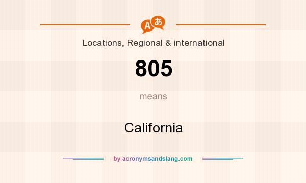 What does 805 mean? It stands for California