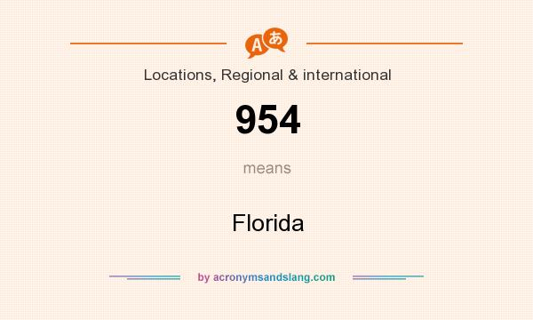 What does 954 mean? It stands for Florida