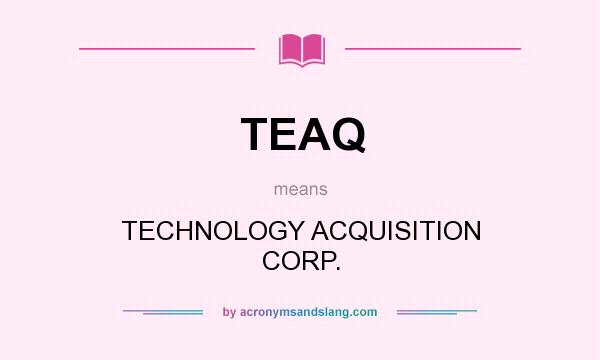 What does TEAQ mean? It stands for TECHNOLOGY ACQUISITION CORP.