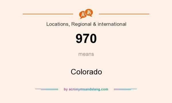 What does 970 mean? It stands for Colorado
