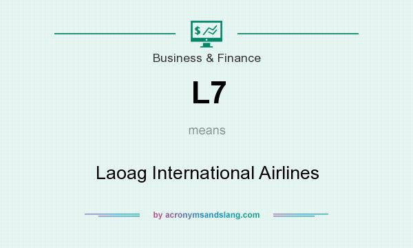 What does L7 mean? It stands for Laoag International Airlines