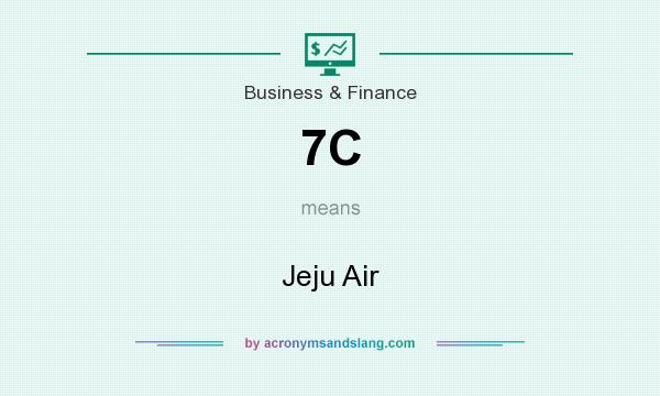 What does 7C mean? It stands for Jeju Air