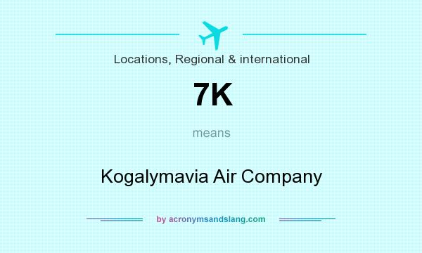 What does 7K mean? It stands for Kogalymavia Air Company