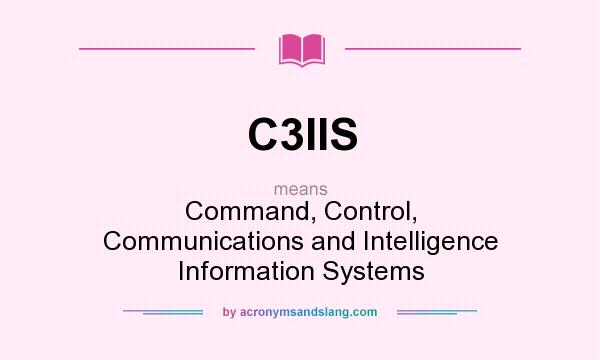 What does C3IIS mean? It stands for Command, Control, Communications and Intelligence Information Systems
