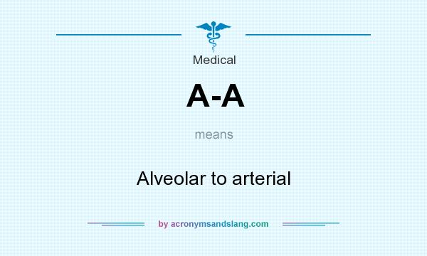 What does A-A mean? It stands for Alveolar to arterial