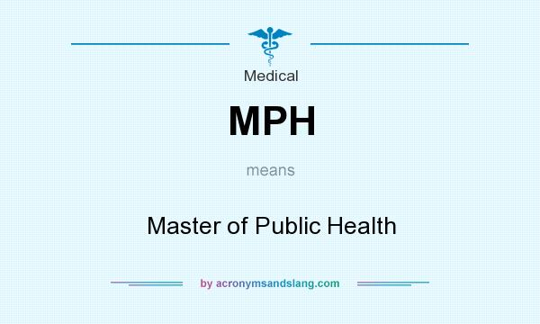 What does MPH mean? It stands for Master of Public Health
