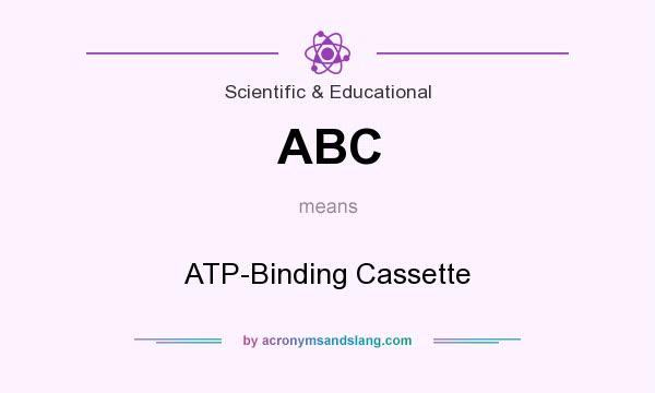 What does ABC mean? It stands for ATP-Binding Cassette