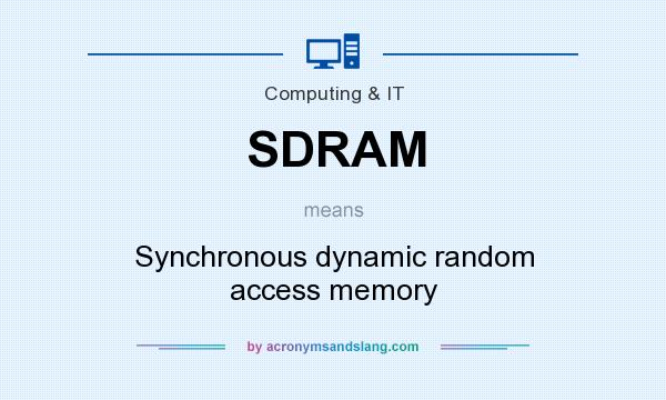 What does SDRAM mean? It stands for Synchronous dynamic random access memory