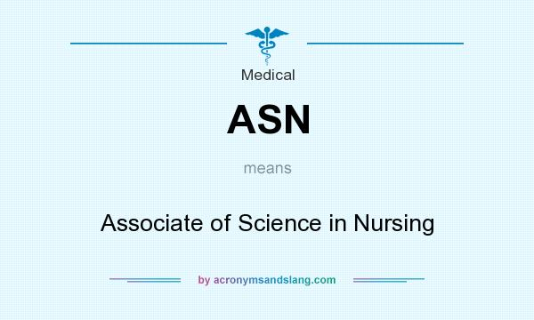 What does ASN mean? It stands for Associate of Science in Nursing